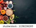 healthy food clean eating...   Shutterstock . vector #1158238285