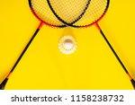 volant and racket  badminton on ...   Shutterstock . vector #1158238732