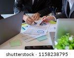 business people meeting... | Shutterstock . vector #1158238795