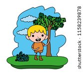 color cute child boy in the... | Shutterstock .eps vector #1158239878