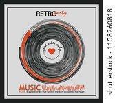 musical poster for your design. ... | Shutterstock .eps vector #1158260818