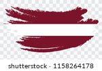 grunge brush stroke with latvia ... | Shutterstock .eps vector #1158264178