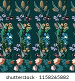 seamless pattern with wild... | Shutterstock .eps vector #1158265882