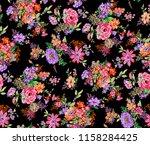 seamless floral design | Shutterstock . vector #1158284425