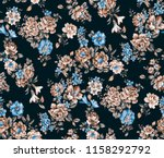 seamless floral light pastel... | Shutterstock . vector #1158292792