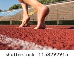 bare feet ready to depart on a... | Shutterstock . vector #1158292915