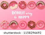 sweet background with hand made ... | Shutterstock .eps vector #1158296692