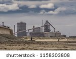 redcar beach on the north east... | Shutterstock . vector #1158303808