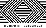 seamless pattern with striped... | Shutterstock .eps vector #1158308185