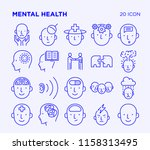 simple set of mental health.... | Shutterstock .eps vector #1158313495