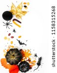 halloween holiday background... | Shutterstock . vector #1158315268