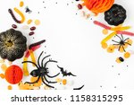 halloween holiday frame with... | Shutterstock . vector #1158315295