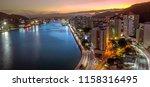 vitoria sunset  landmark ... | Shutterstock . vector #1158316495