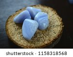 set of 2 blue lace agate... | Shutterstock . vector #1158318568