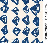 triangle pattern. indigo... | Shutterstock .eps vector #1158318742