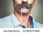 close up of a man's chin... | Shutterstock . vector #1158337468