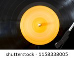playing vinyl viwed from above... | Shutterstock . vector #1158338005