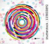 abstract digital circles vector ... | Shutterstock .eps vector #115833892