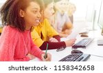 university students learning | Shutterstock . vector #1158342658