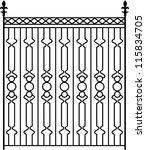 Wrought Iron Gate  Door  Fence  ...