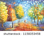 oil painting  street view | Shutterstock . vector #1158353458