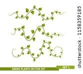 green vines   set 1 | Shutterstock .eps vector #1158359185