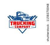 truck company transportation... | Shutterstock .eps vector #1158370048