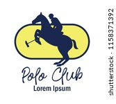 polo sport logo with text space ... | Shutterstock .eps vector #1158371392