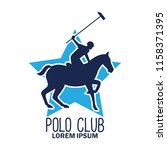 polo sport logo with text space ... | Shutterstock .eps vector #1158371395