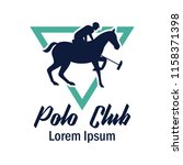 polo sport logo with text space ... | Shutterstock .eps vector #1158371398
