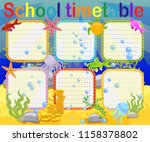 school timetable with marine... | Shutterstock .eps vector #1158378802