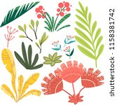 vector set of bright stylized... | Shutterstock .eps vector #1158381742