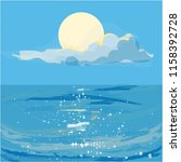 glistening summer sea | Shutterstock .eps vector #1158392728