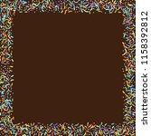 sprinkles grainy. sweet... | Shutterstock .eps vector #1158392812