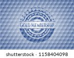 gold membership blue emblem or... | Shutterstock .eps vector #1158404098