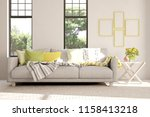 idea of white room with sofa... | Shutterstock . vector #1158413218