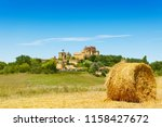 panoramic landscape with french ... | Shutterstock . vector #1158427672