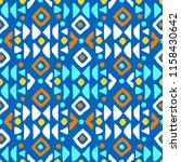 aztec style seamless geometry... | Shutterstock .eps vector #1158430642