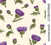 vector background of thistle... | Shutterstock .eps vector #1158435868