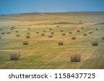 field of hay at tierra del... | Shutterstock . vector #1158437725
