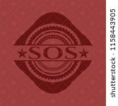 sos badge with red background | Shutterstock .eps vector #1158443905