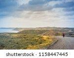 bicycle trip at tierra del... | Shutterstock . vector #1158447445