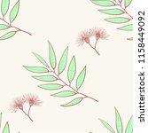 eucalyptus seamless pattern ... | Shutterstock .eps vector #1158449092