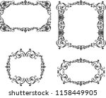 a set of the ancient decorative ... | Shutterstock .eps vector #1158449905