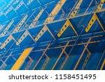 glass curtain facade wall.... | Shutterstock . vector #1158451495