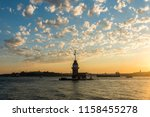 maiden's tower with sunset sky... | Shutterstock . vector #1158455278