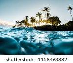 beautiful tropical island... | Shutterstock . vector #1158463882