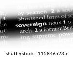 sovereign word in a dictionary. ...   Shutterstock . vector #1158465235