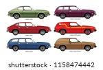 set of vector drawings of... | Shutterstock .eps vector #1158474442
