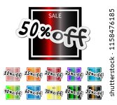 colorfull sale stickers  with... | Shutterstock .eps vector #1158476185